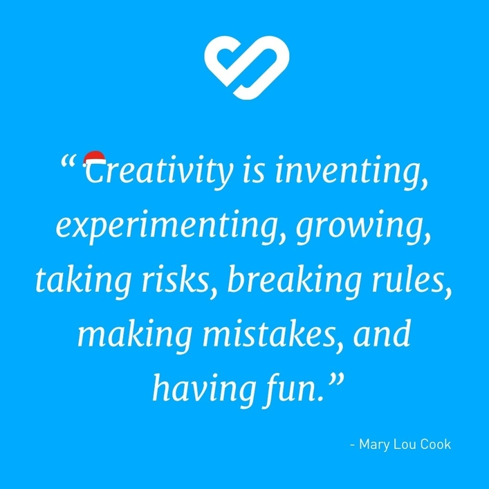 Creativity is inventing, experimenting,growing,taking risks, breaking rules, making mistakes and having fun