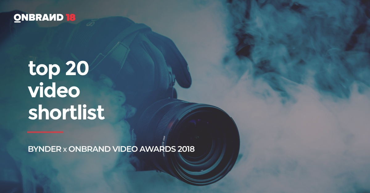 The Bynder x OnBrand Video Awards: Top 20