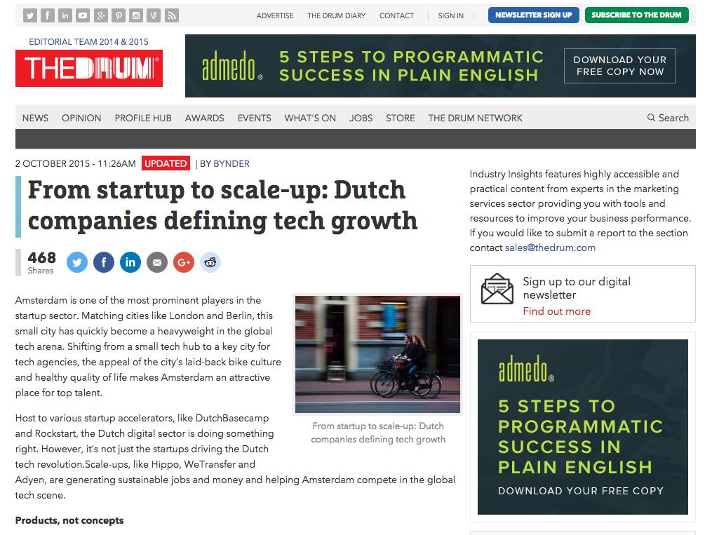 Startup scale Dutch companies defining tech growth screenshot