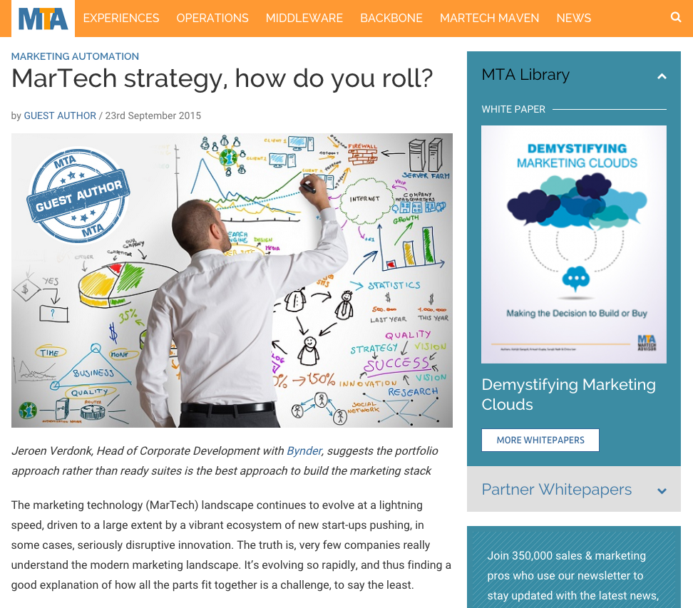 Martech strategy how do you roll