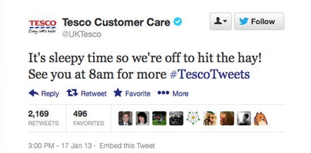 Obnoxious Tweet Tesco