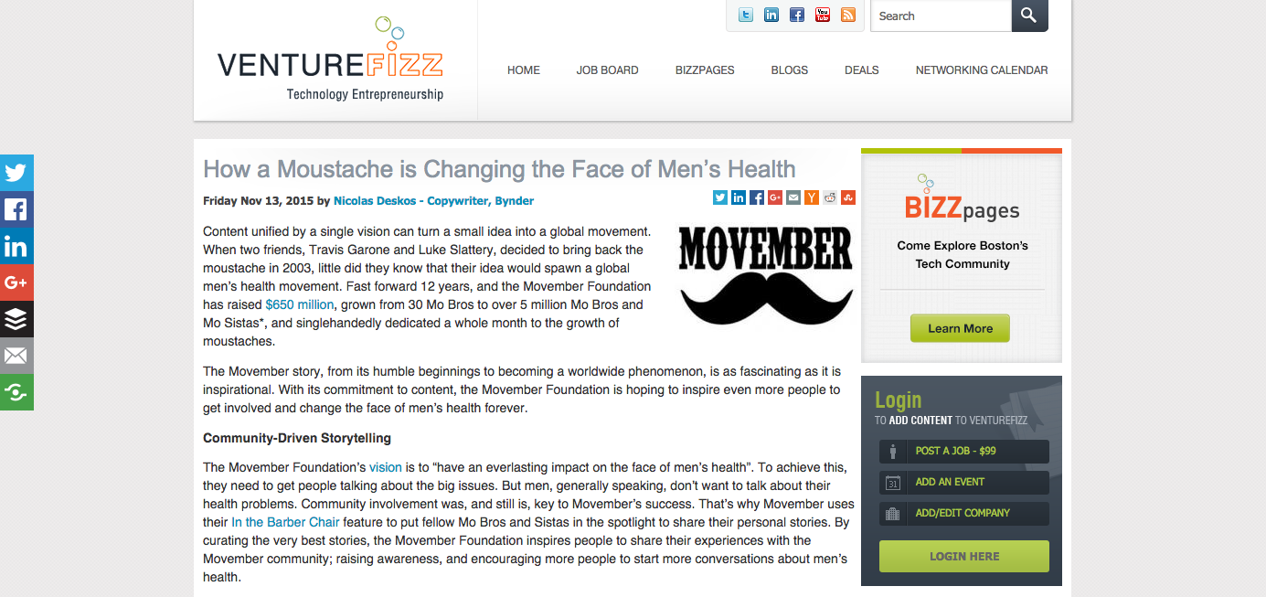 Movember Blog Post